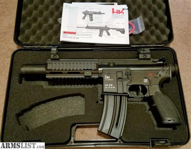 Armslist For Sale New Hk416 22lr Pistol 1 20rd Mag - Modern Home
