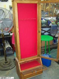 ARMSLIST - For Sale: Wooden handmade Gun Cabinet
