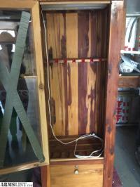 ARMSLIST - For Sale: hand made cedar gun cabinet