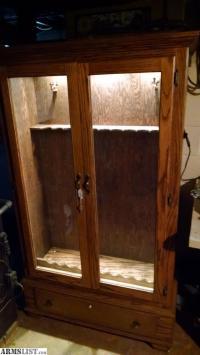 ARMSLIST - For Sale/Trade: Oak gun cabinet
