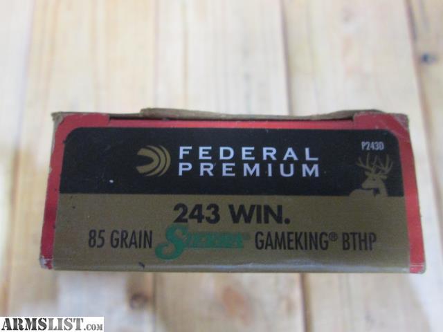 Premium 243 Ammo For Sale 100 Grain Sp Ammunition In Stock