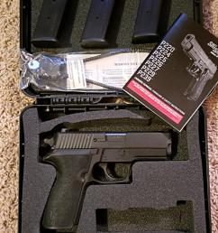 like new sig 227 45acp with 3 mags siglite night sights srt trigger and original box azdl ccw preferred  [ 640 x 1317 Pixel ]