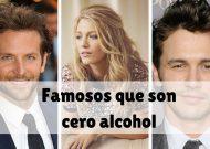 7 famosos que, INCREIBLEMENTE, son cero alcohol