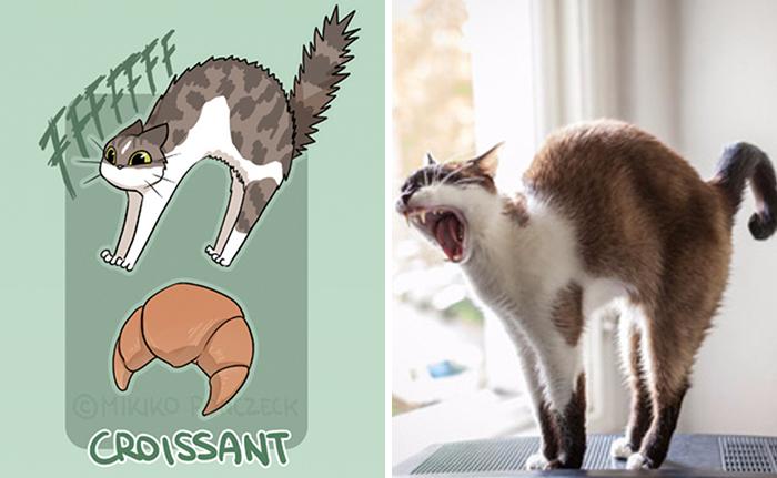Gato cuerno - ilustraciones de mikiko