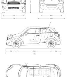 mini cooper  detailed drawing [ 800 x 1169 Pixel ]