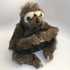 Neal Sofaworks Teddy Kourtney Quilted Leather Sofa The Sloth Plush Soft Toy By Sofology With Joining Velcro Hands Details About Very Good