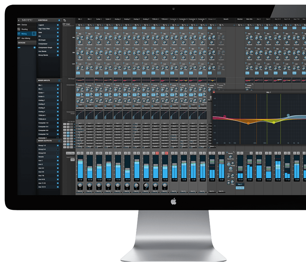 hight resolution of 48 channel mixer