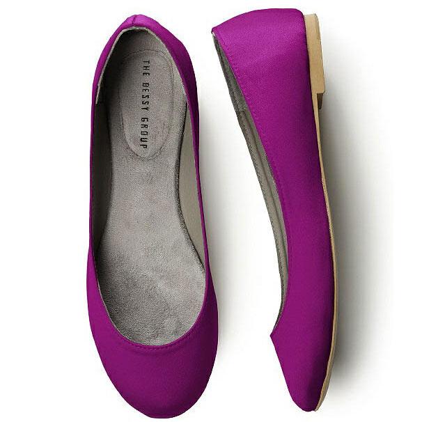 Satin Ballet Flat Plum (13 Colors)