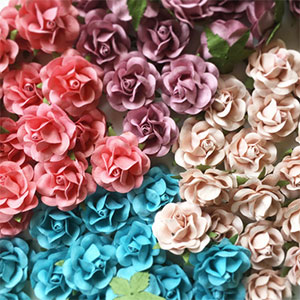 2 Inch Paper Flowers