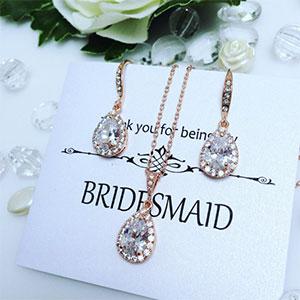 Bridesmaid Thank You Jewelry Set