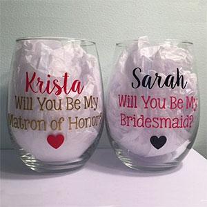 Bridesmaid Proposal Glasses
