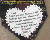 Heart Shaped WEDDING TIE PATCH Father of the Bride, Father of the Groom, Groom Tie Patch, Sew or Iron On, 2.25 Wide Patch, Dot Border