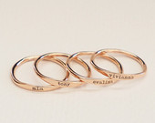 Custom Delicate Name Ring Custom Stacking Rings Skinny Custom Ring Bridesmaids Gift Baby Name Mom Gifts BRIDESMAIDS GIFT RM21F31