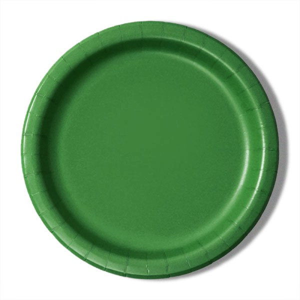 """9"""" Emerald Paper Dinner Plates - Quantity: 8 - Household Supplies by Paper Mart"""
