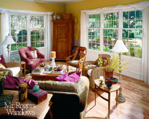 Double Hung White Family Room