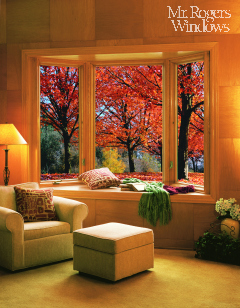 bay window stained casements picture window and seat