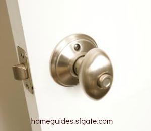 doorknob on white door