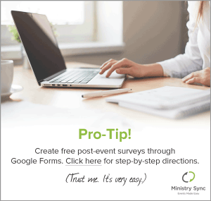 Google Form Instructions for Event Surveys