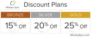 Ministry Sync's Discount Plans save you even more.