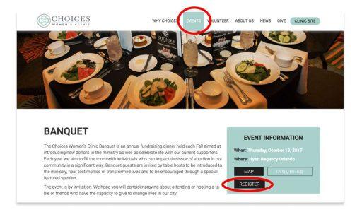 Sample event marketing