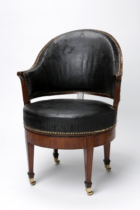 white leather swivel desk chair recliner chairs brisbane top ten objects in mount vernon's collection · george washington's vernon