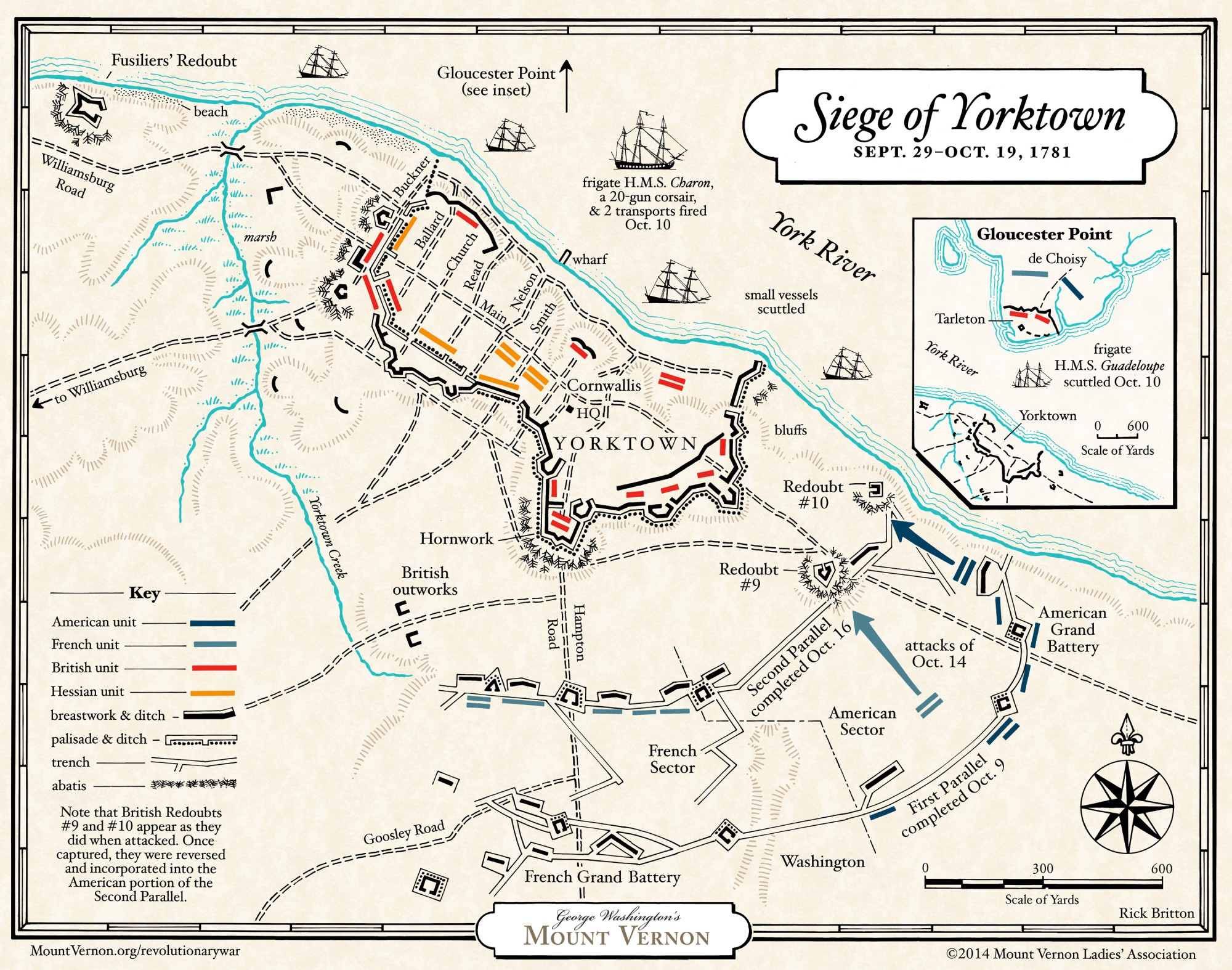 Illustrating The Siege Of Yorktown In October Of