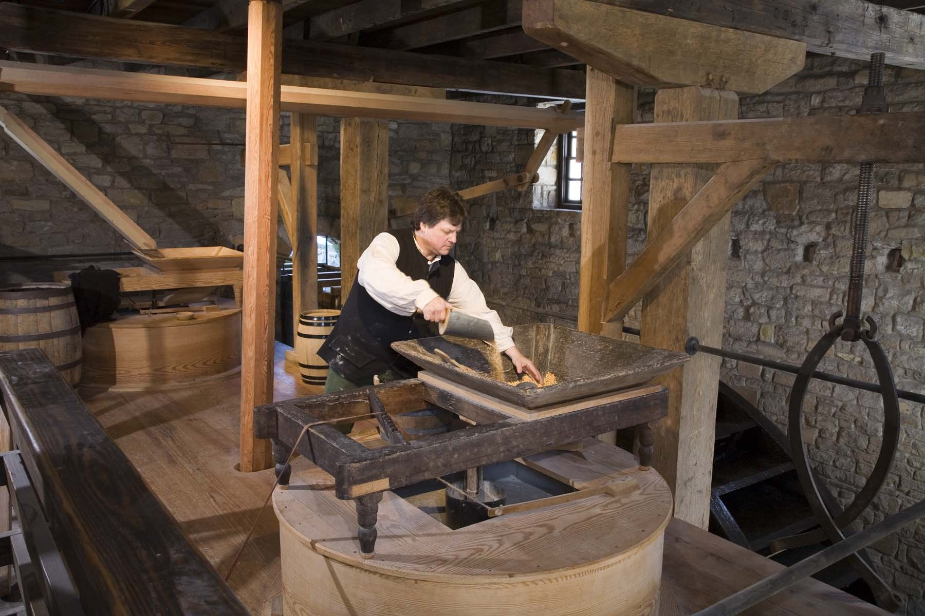 Ten Facts About The Gristmill George Washingtons Mount