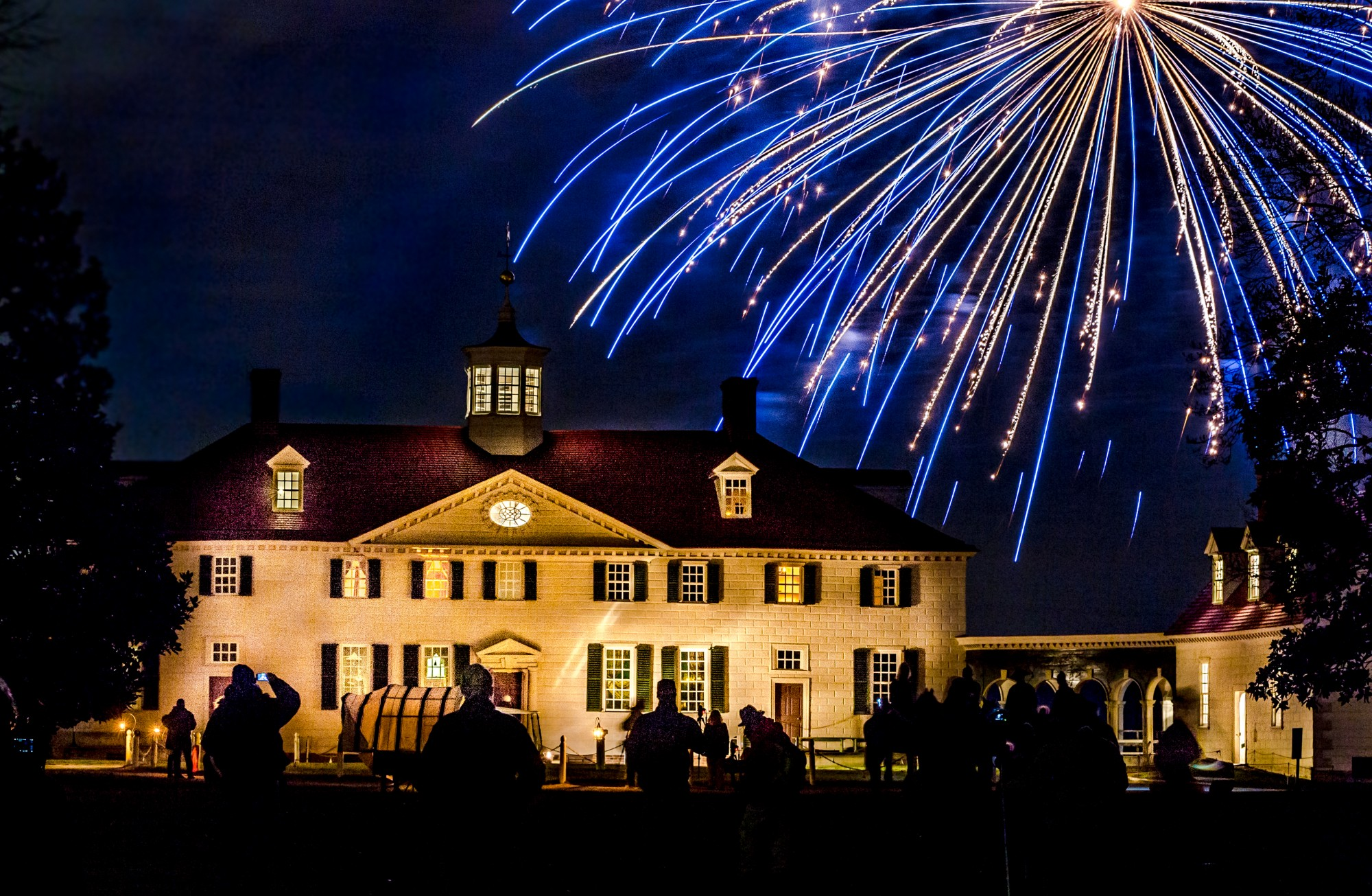 Christmas Illuminations At Mount Vernon George