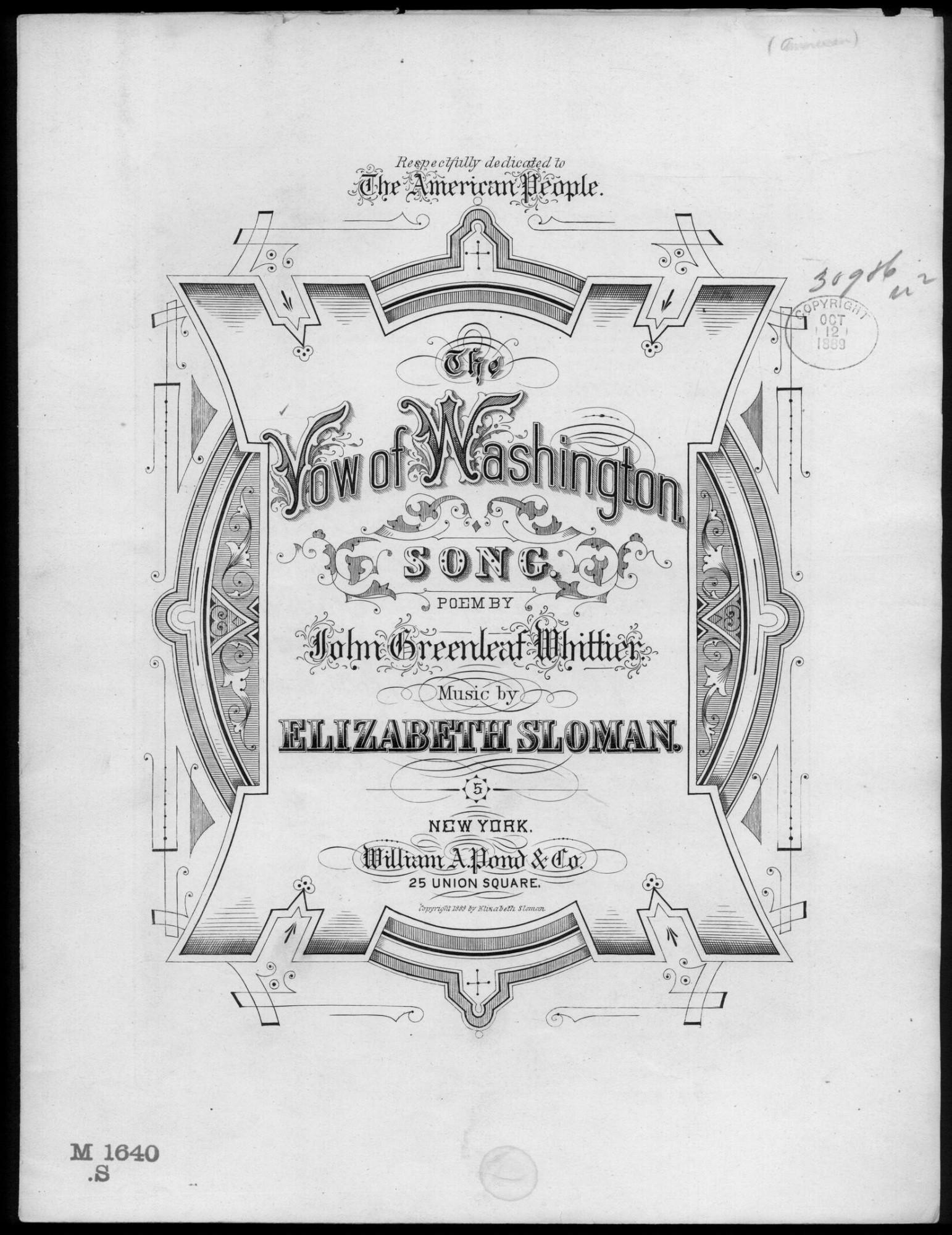 The Vow of Washington · George Washington's Mount Vernon