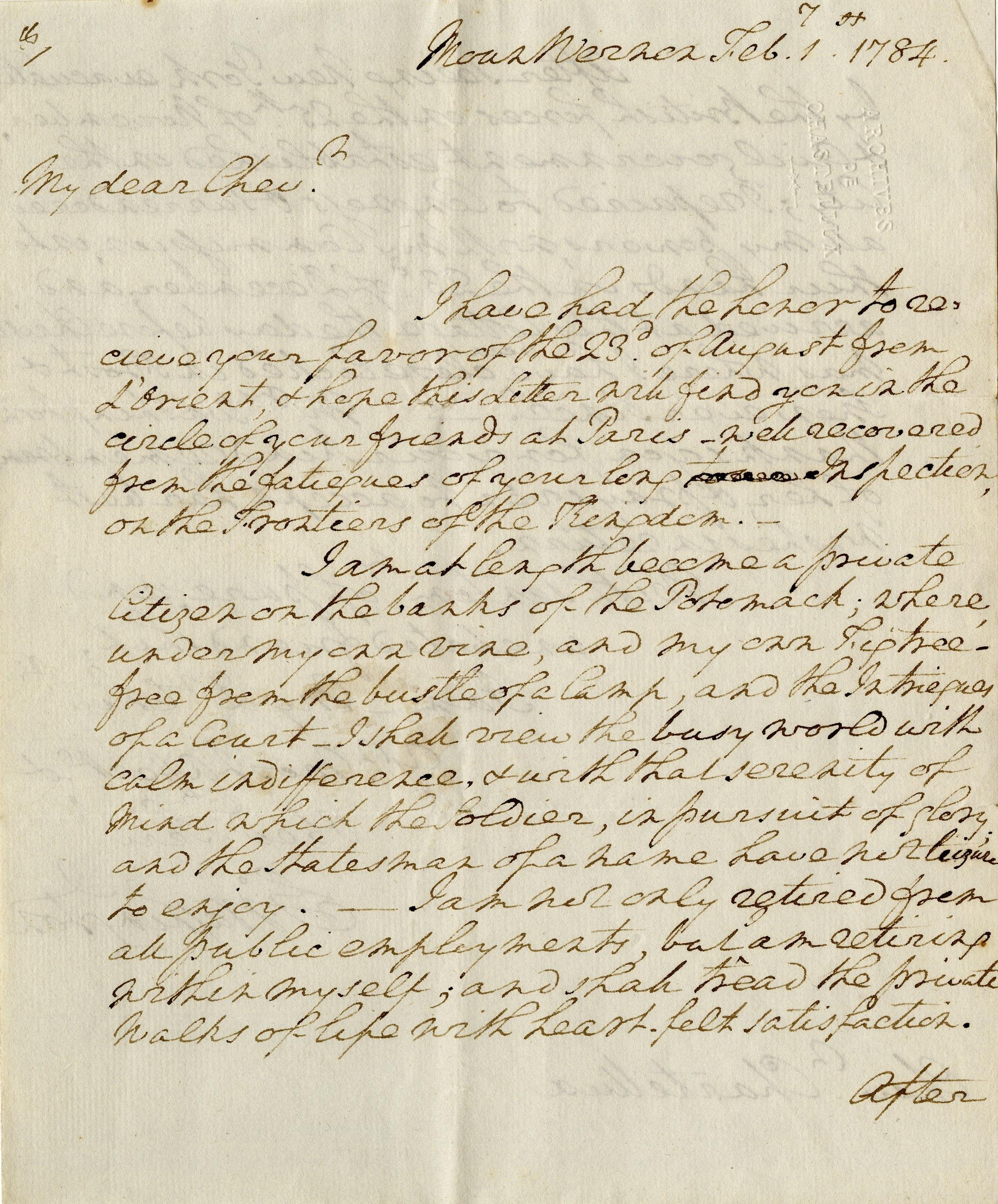 Writing In The 18th Century George Washington S Mount Vernon