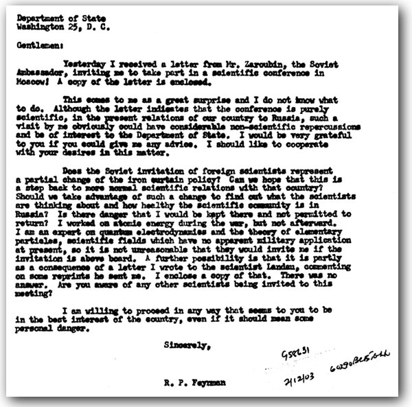 The Feynman Files: The professor's invitation past the