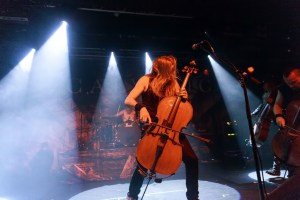 Apocalyptica live on-stage at Rock City in Nottingham, UK on November 25th, 2015. Photo by Katy Blackwood.