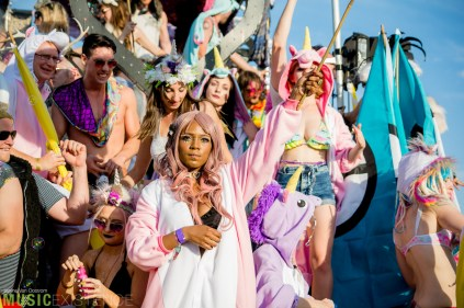 Festival Goers at the Bestival Parade