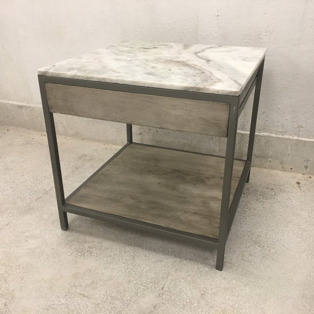 Marble Top Side Table With Drawer Nadeau Marietta