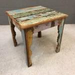 Reclaimed Wood Side Table Nadeau Nashville
