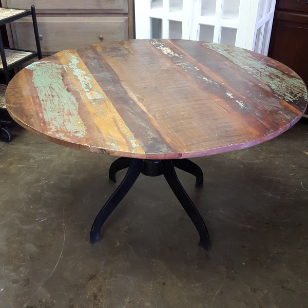 be42b701fa Metal and Wood Round Dining Table. Metal and Wood Round Dining Table ·  Parquet Coffee Table - Nadeau San Antonio