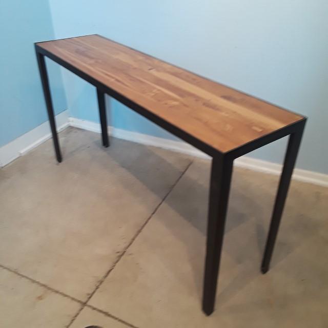 teak sofa table ethan allen sectional iron and console nadeau huntsville