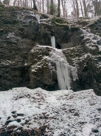 Ice falls in the canyon