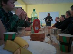 There must have been about 40 men that attended the men's breakfast in Banska Bystrica