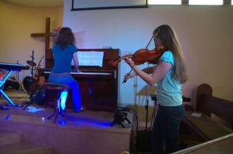 Jana and Elisabeth play Secret Garden during the Fusion concert
