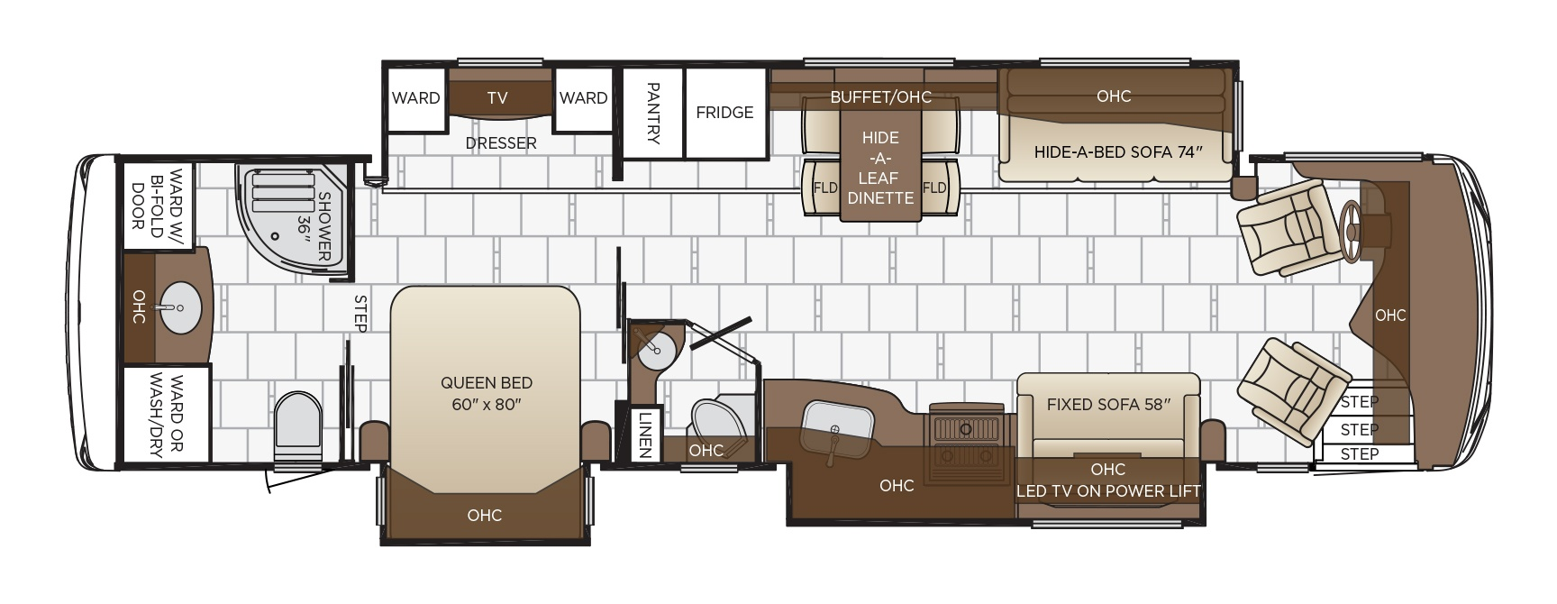 spartan sofa sectional amazon dutch star floor plan options   newmar