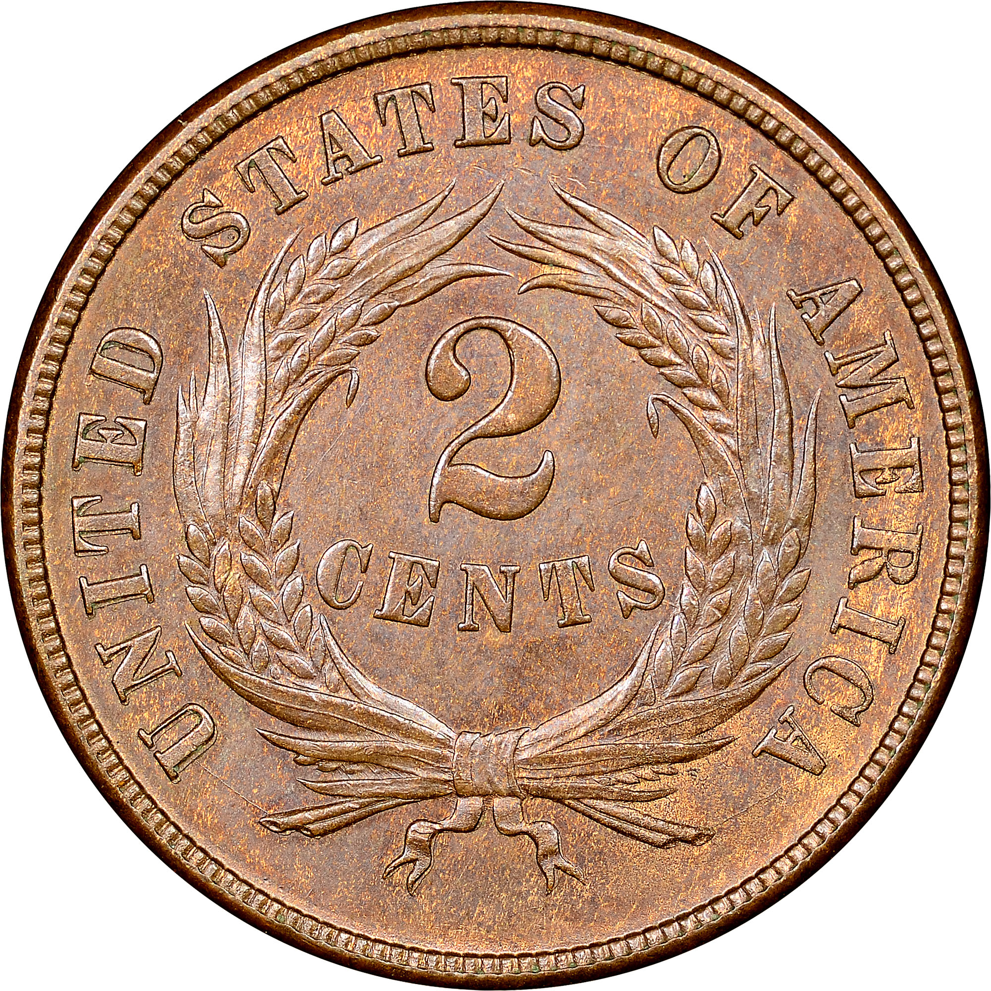 Shield Two Cents Coin Auctions