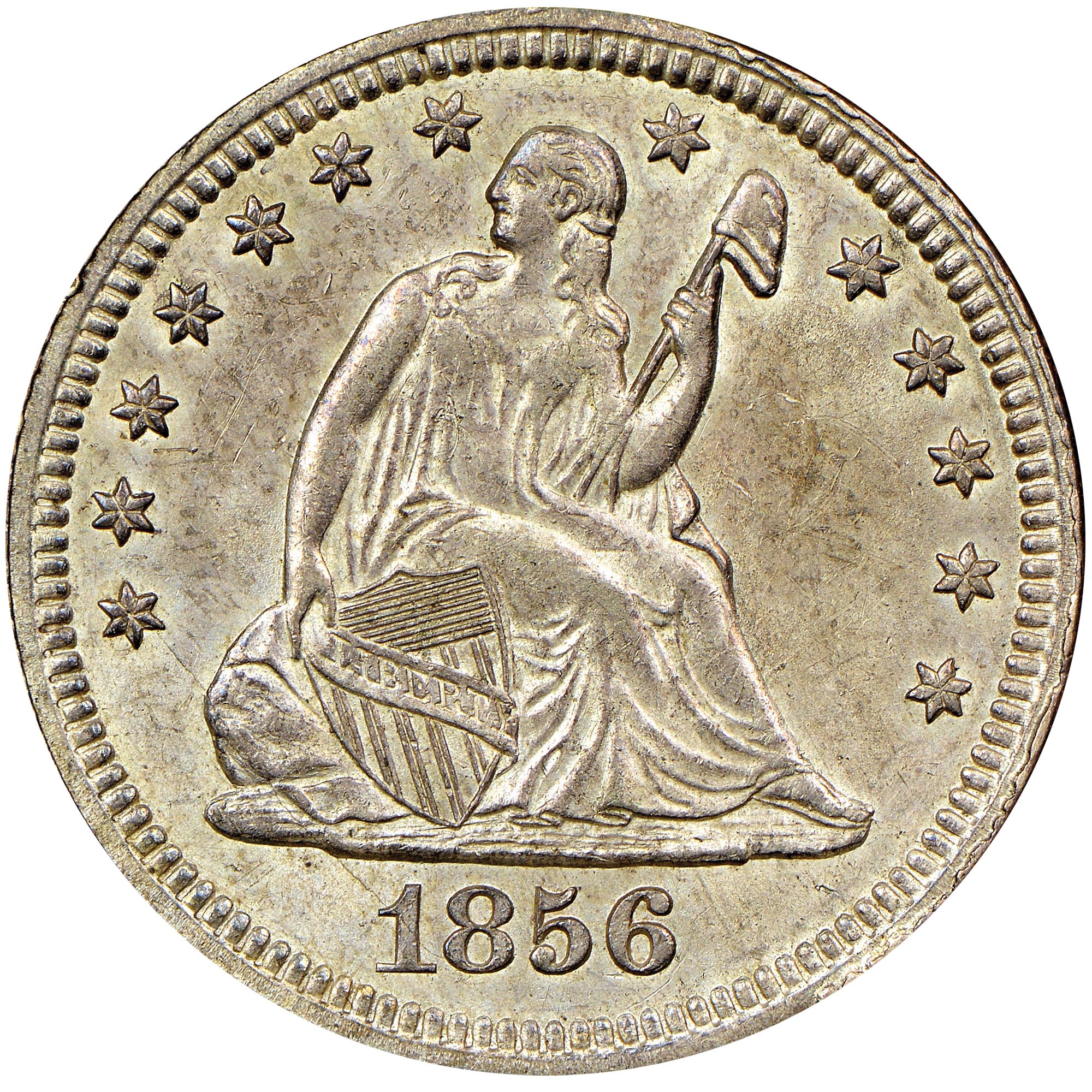25c Ms Seated Liberty Quarters