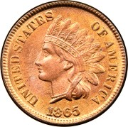 1865 1c ms indian cents ngc