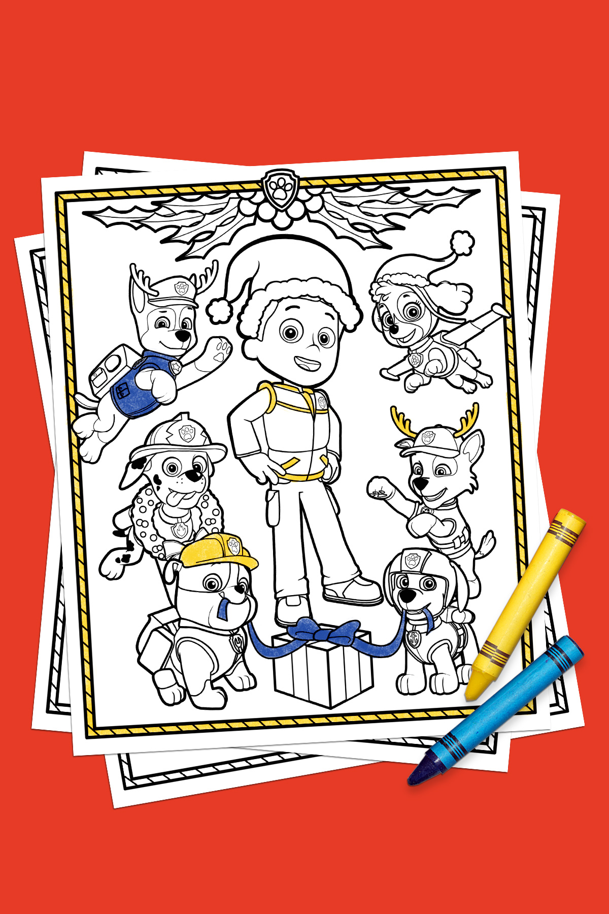 Paw Patrol Holiday Coloring Pack