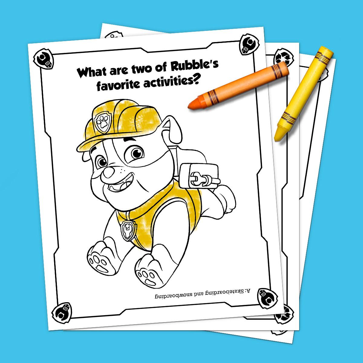 Preschool Paw Patrol Number Worksheet 5