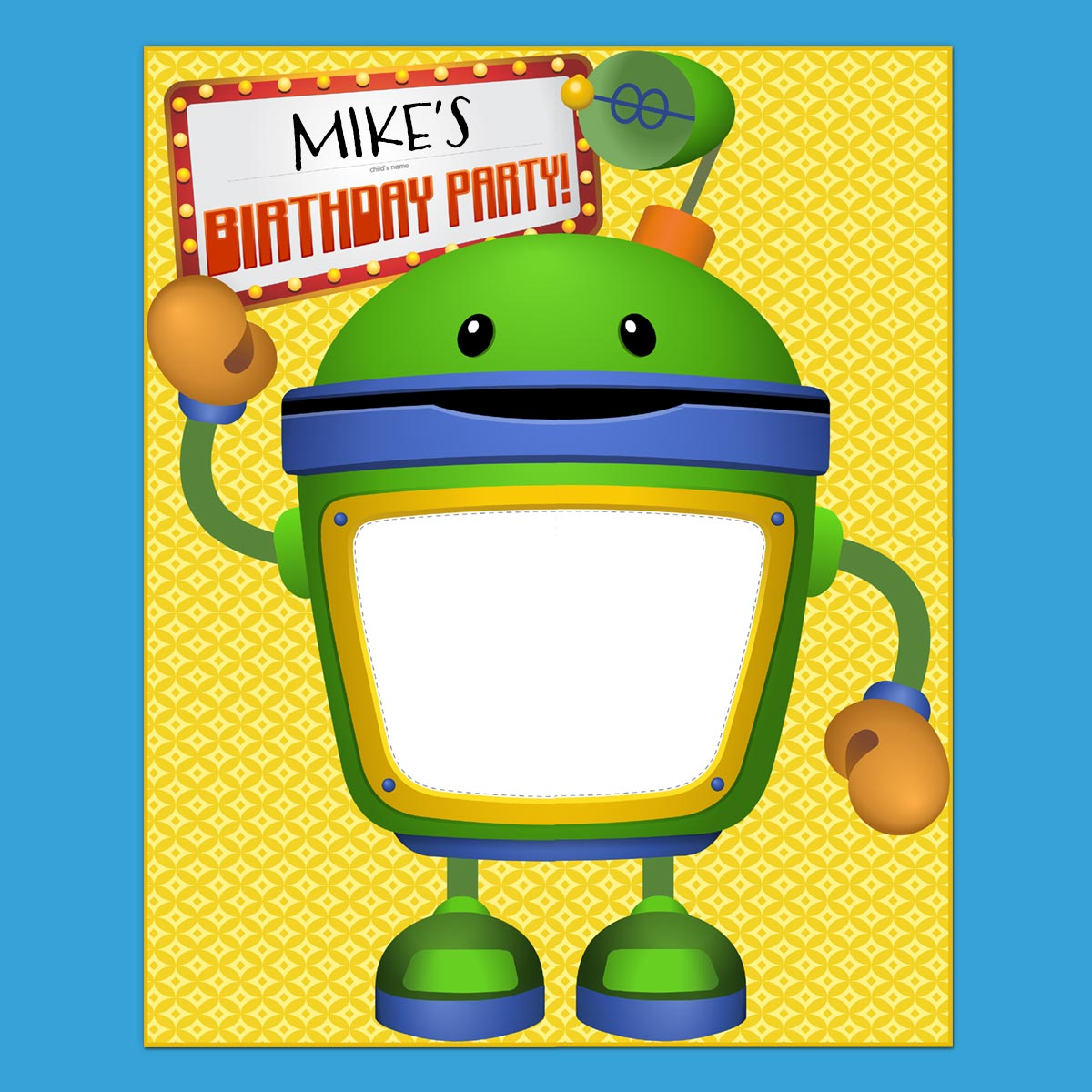 Team Umizoomi Bot Party Poster