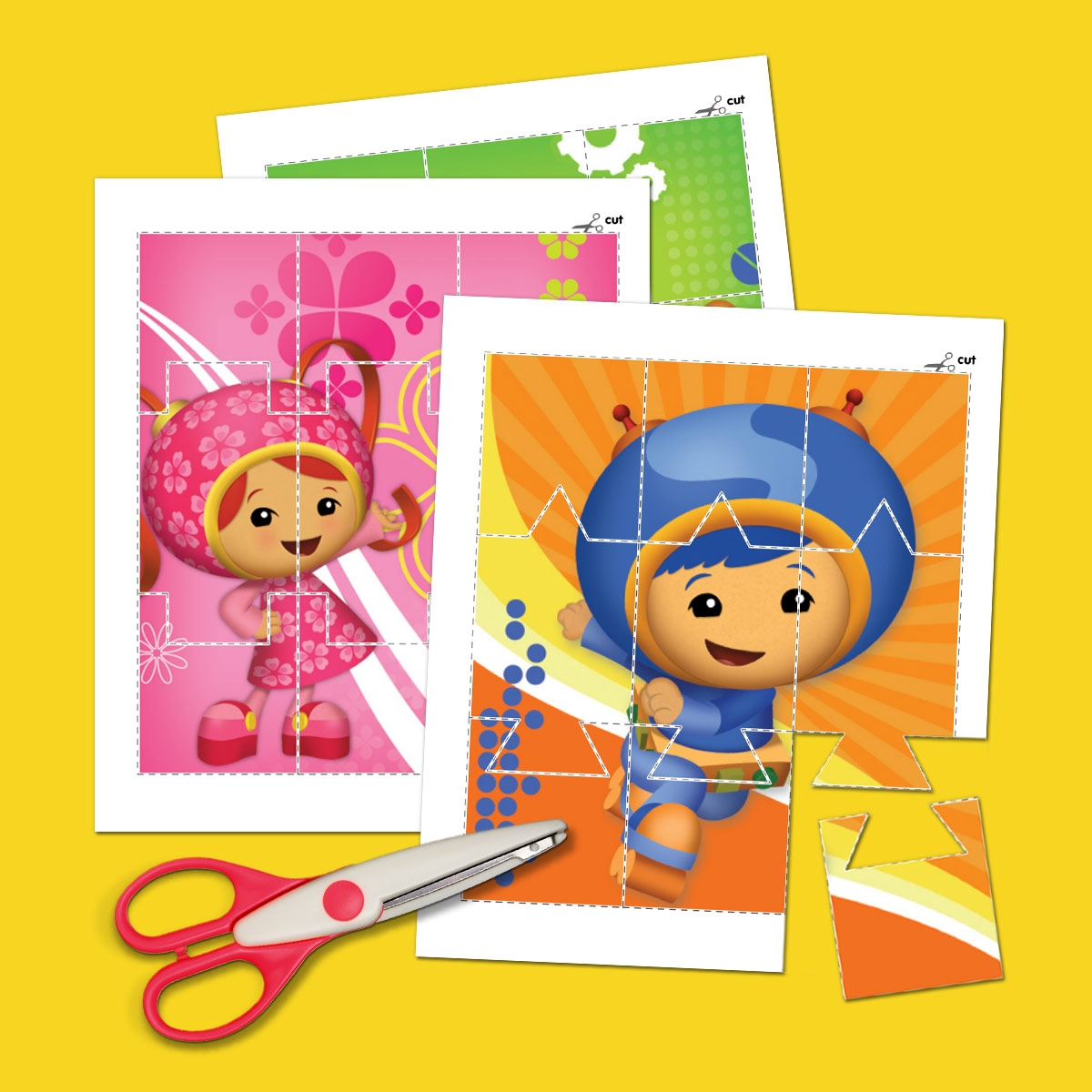 Team Umizoomi Picture Puzzles