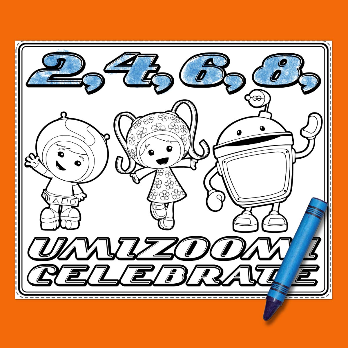 Team Umizoomi Birthday Party Placemats