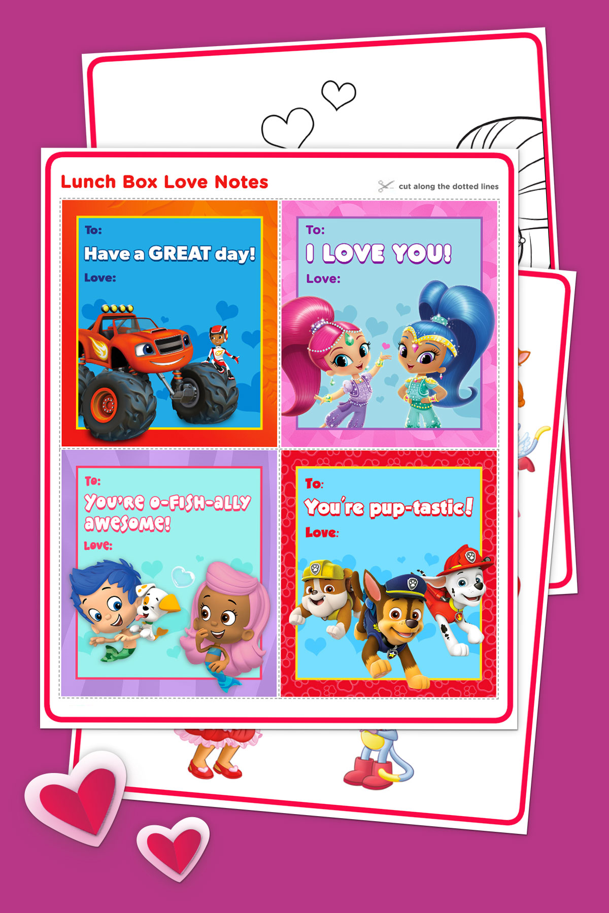 Nick Jr Valentine S Day Activity Pack